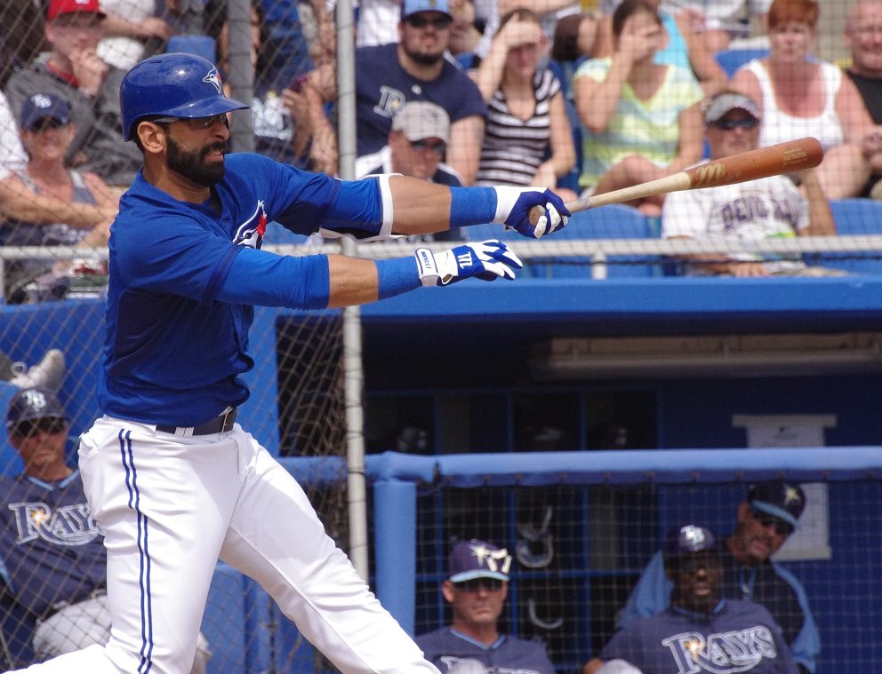 Jose Bautista went 6-for 14 (.429 batting average) in the Toronto Blue Jays' three-game series against the Kansas City Royals last weekend. Photo Credit: Jay Blue