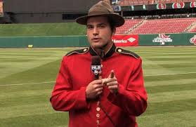 Joey Votto (Etobicoke, Ont.) sporting RCMP colours on MLB Network's Intentional Talk.