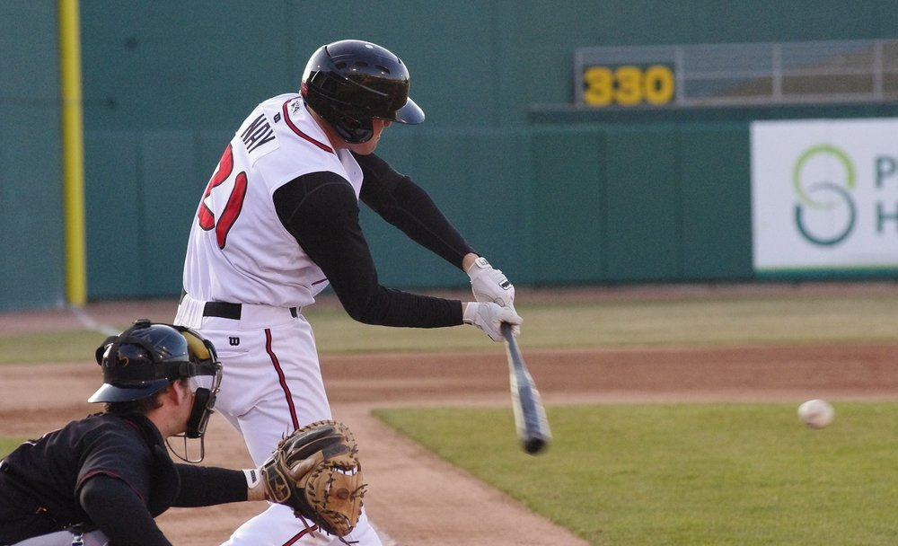 Mitch Nay had a monster game for the Lansing Lugnuts on Saturday, going 4-for-5 with a double, two singles and a home run. Photo Credit: Jay Blue