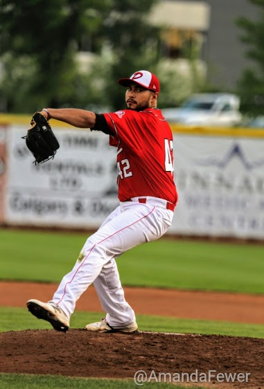 RHP Anthony Balderas tossed a gem against Swift Current. Photos:: Amanda Fewer