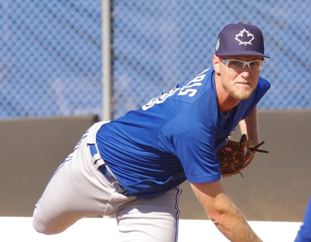 Jon Harris pitched seven scoreless innings to the lead the double-A New Hampshire Fisher Cats to a 2-0 win over the Portland Sea Dogs on Wednesday. Photo Credit: Jay Blue