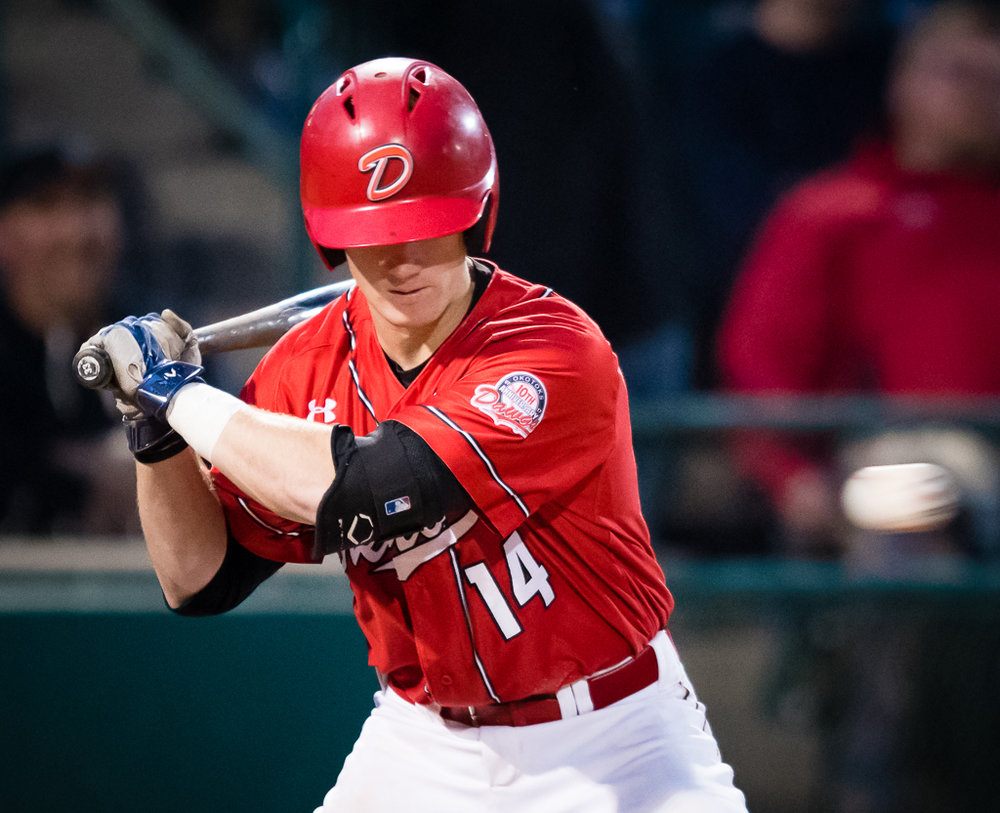 Catcher Joel Brophy had a double and three RBI on Saturday to lead the Okotoks Dawgs to a 4-2 win over the Edmonton Prospects. Photo Credit: Okotoks Dawgs