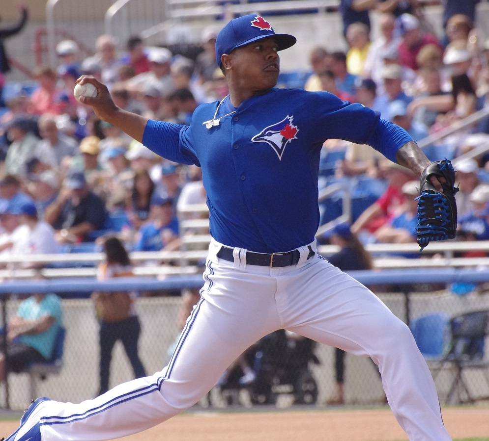 Marcus Stroman allowed just one run in seven innings to lead the Toronto Blue Jays to a 7-2 win over the Houston Astros on July 8 at Rogers Centre. Photo Credit: Jay Blue