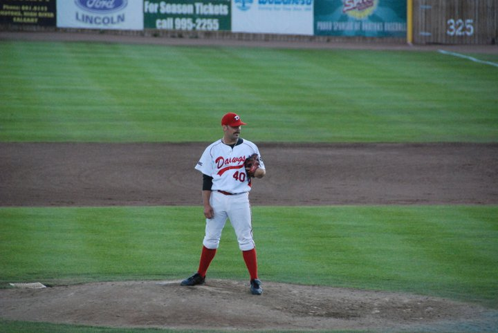 Former Okotoks Dawgs right-hander Andrew Kittredge made his major league debut for the Tampa Bay Rays on Tuesday. Photo Credit: Okotoks Dawgs