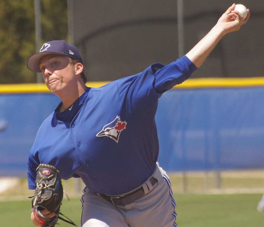 Left-hander Ryan Borucki tossed seven scoreless innings in his double-A debut with the New Hampshire Fisher Cats on Sunday. Photo Credit: Jay Blue