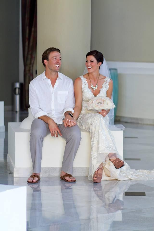 Brandon and Melissa on their destination wedding