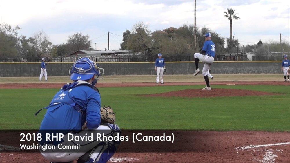 Pacific Northwest's RHP David Rhodes (White Rock, BC)