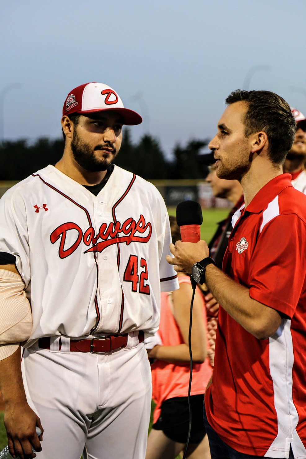 And ... now let's throw it downstairs ... to Dustin Saracini with his post-game guest Anthony Balderas