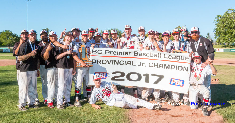 The 2017 BCJPBL Champion North Shore Twins (Photo: Christian J. Stewart / ISN)