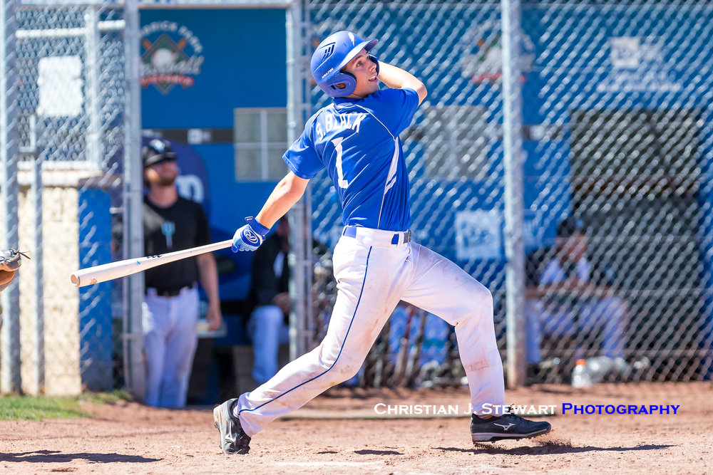 The Thunder's Sam Black would be one of five players with a two-hit day against White Rock (Photo: Christian J. Stewart)