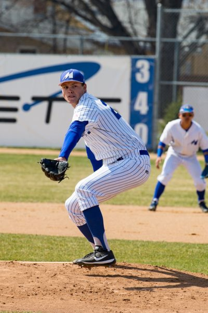 RHP Kody Rock of Canora, seen here with his college team at Mayville State, has signed his first professional baseball contract.