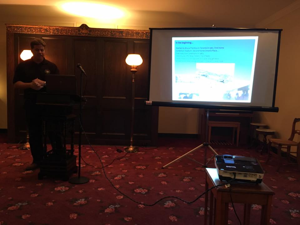 On Sunday night, Crawford made a presentation about the Canadian Baseball Hall of Fame to the local SABR chapter in Cooperstown.
