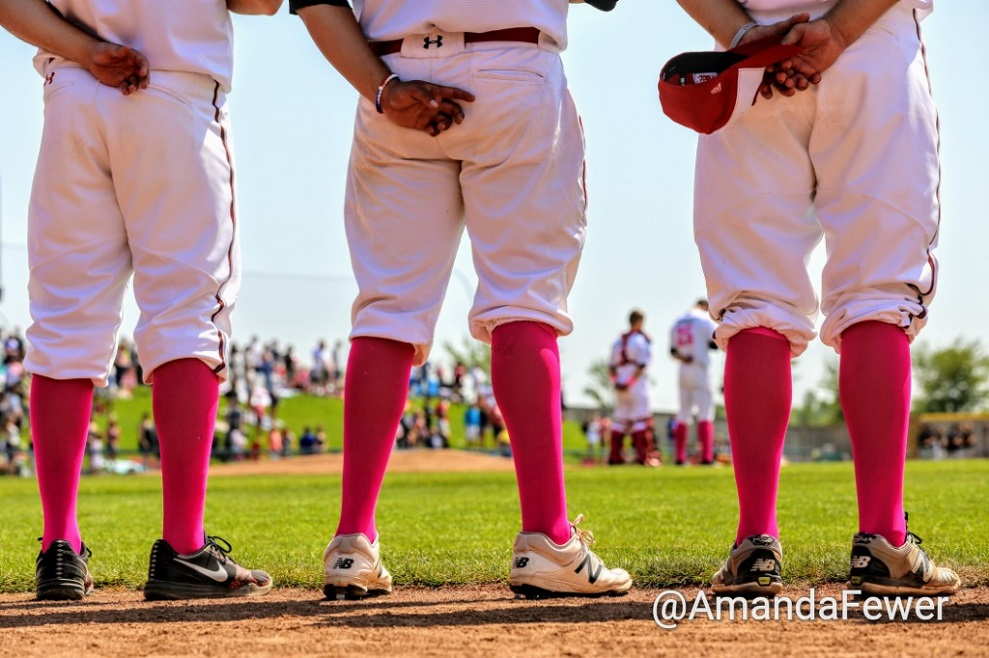 Pink socks abounded at Seamen Stadium during Pink in the Park day.