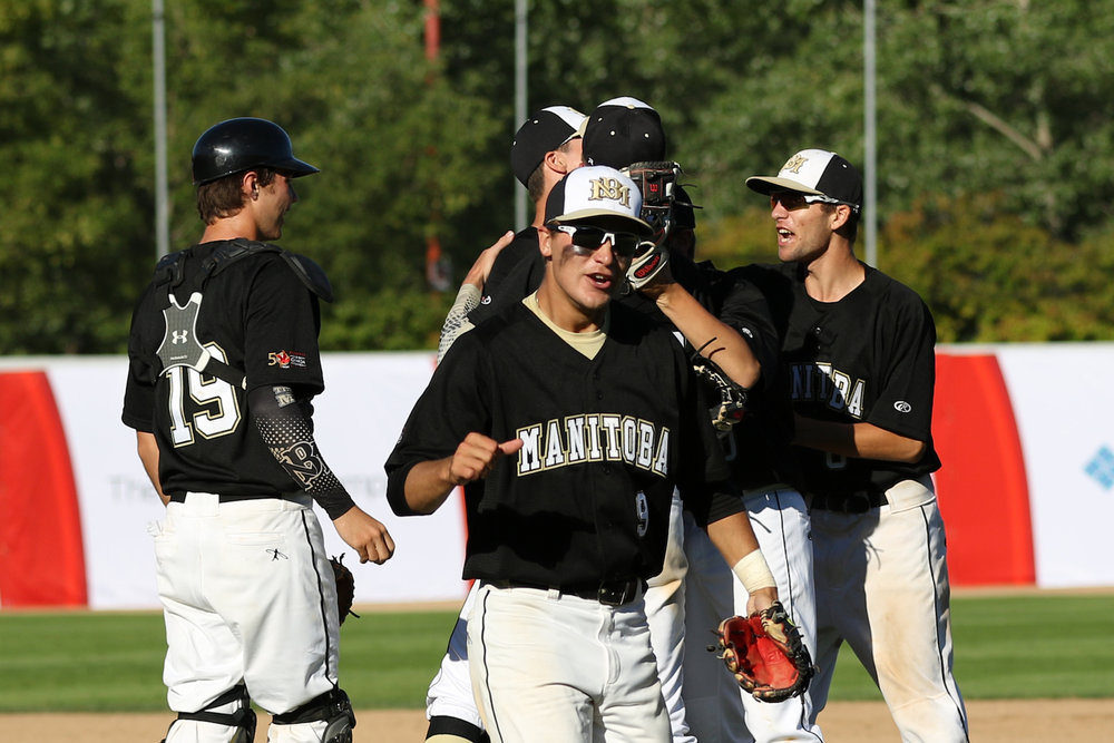 Manitoba will play Saskatchewan in the gold medal game at the Canada Games in Winnipeg on Friday. Photo Credit: Baseball Canada