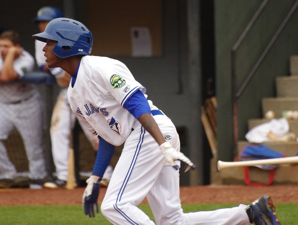 Reggie Pruitt went 2-for-4, with an inside-the-park home run, for the Vancouver Canadians on Friday to help lead them to a 4-2 win. Photo Credit: Jay Blue