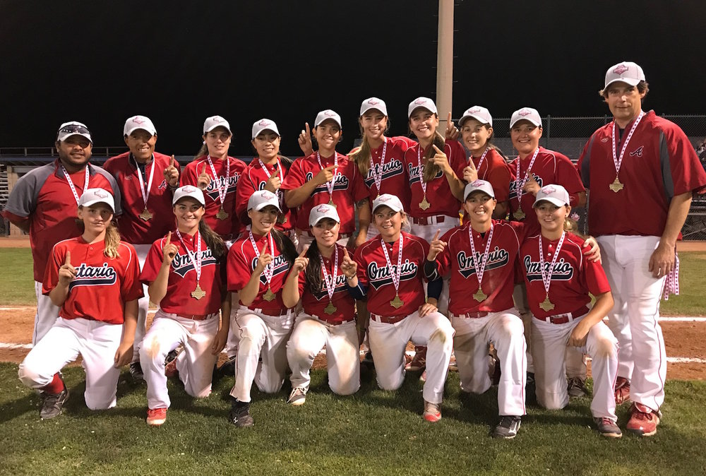 Team Ontario captured the gold medal at Baseball Canada's Women's Invitational Championships in Windsor, Ont., on Sunday. Photo Credit: Baseball Canada