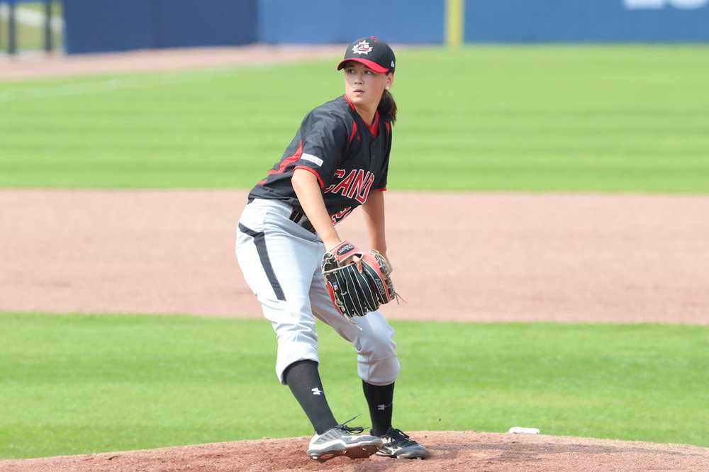 Left-hander Claire Eccles has been named to the Canadian Women's National Team for the fourth time. Photo Credit: Baseball Canada