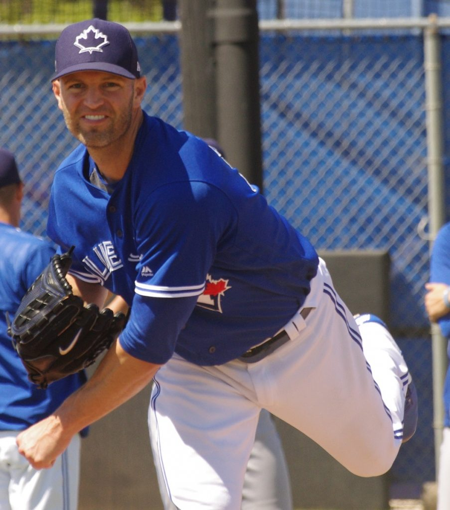 Left-hander J.A. Happ was the losing pitcher in Game 1 of the Toronto Blue Jays' three-game series against the Los Angeles Angels. Photo Credit: Jay Blue