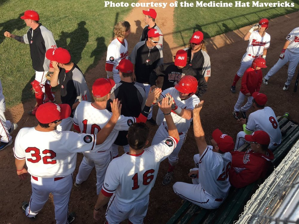The Medicine Hat Mavericks defeated the Edmonton Prospects 5-3 in Game 1 of the WMBL's Western Division Final on Monday. Photo Credit: Medicine Hat Mavericks