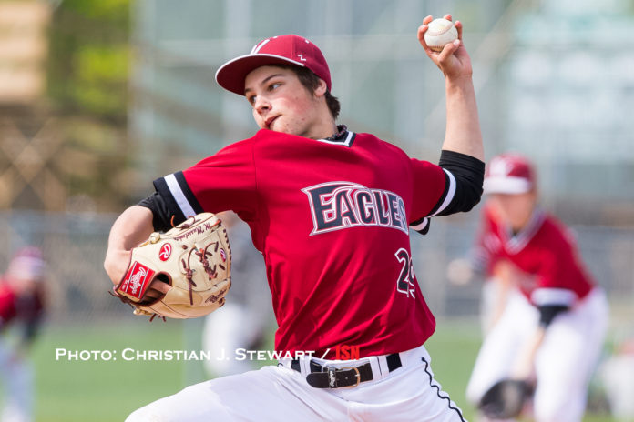 High school lefty Mike Musselwhite has excelled in his call up to the Victoria HarbourCats during the playoffs. Photo Credit: Christian Stewart