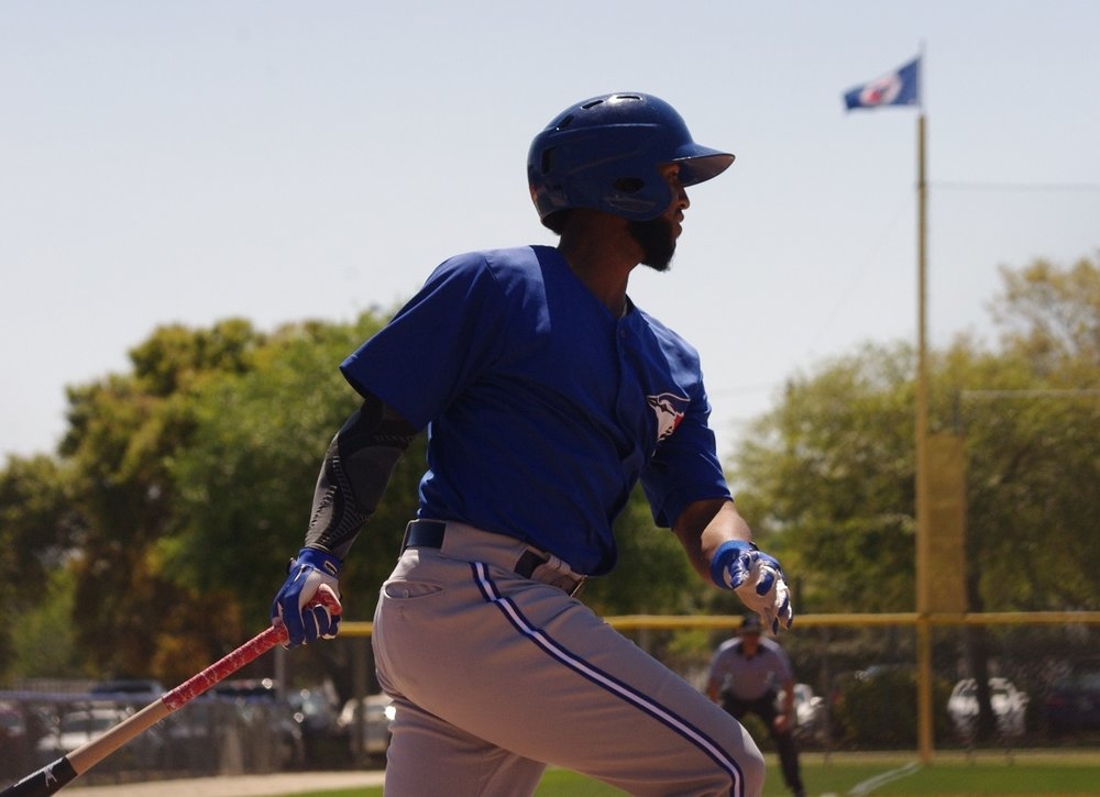 Richard Urena missed the cycle by a triple, going 3-for-5 on Thursday, to help lead the double-A New Hampshire Fisher Cats to a 9-6 win. Photo Credit: Jay Blue