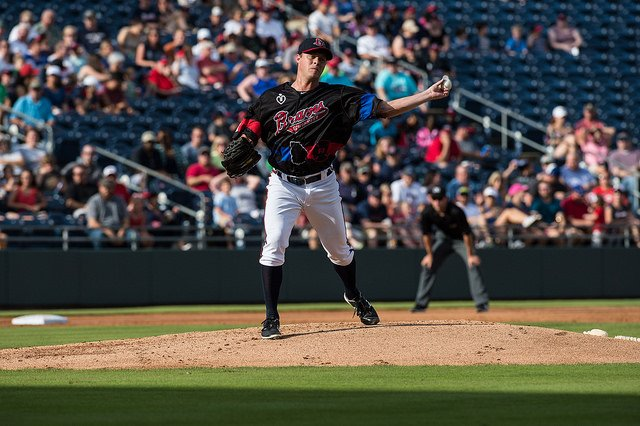 After posting outstanding numbers with the triple-A Gwinnett Braves this season, left-hander Andrew Albers (North Battleford, Sask.) was dealt to the Seattle Mariners on Friday. Photo Credit: Gwinnett Braves Media