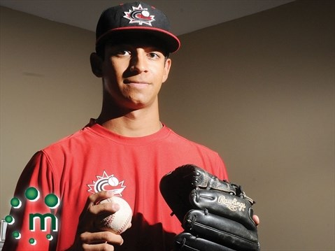 RHP Nate Borges (Brooklin, Ont.) of Northeastern