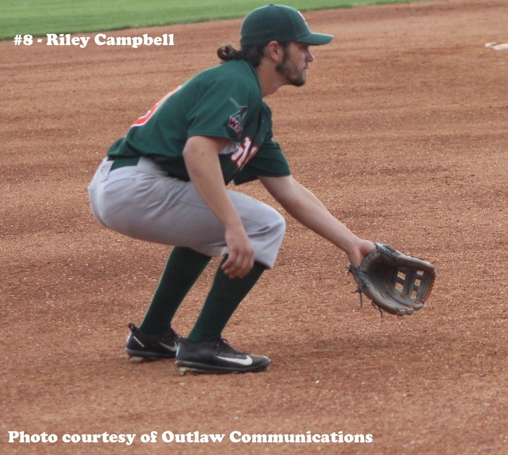 Riley Campbell had four hits for the Swift Current 57's on Wednesday to help lead his club to a 6-4 win over the Edmonton Prospects. Photo Credit: Outlaw Communications.