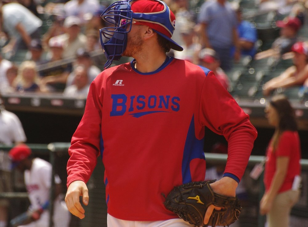Danny Jansen was 2-for-4 with a solo home run to help lead the triple-A Buffalo Bisons to a 4-3 win on Friday. Photo Credit: Jay Blue