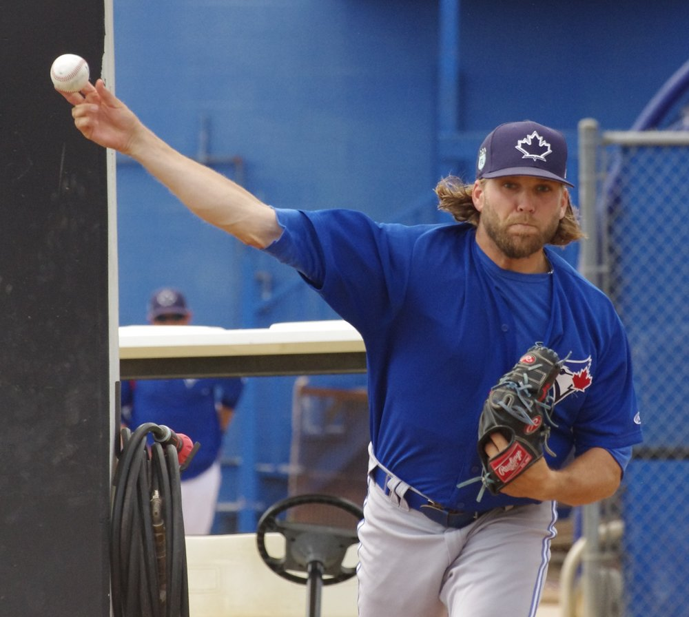 Right-hander Chris Rowley picked up a win in his major league debut with the Toronto Blue Jays on August 12. Photo Credit: Jay Blue