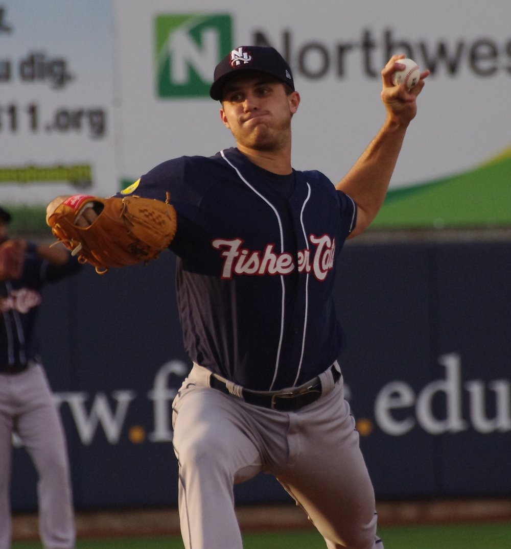 Left-hander Thomas Pannone allowed just one run in six innings in the first game of the double-A New Hampshire Fisher Cats' doubleheader against the Binghamton Rumble Ponies on Wednesday. Photo Credit: Jay Blue