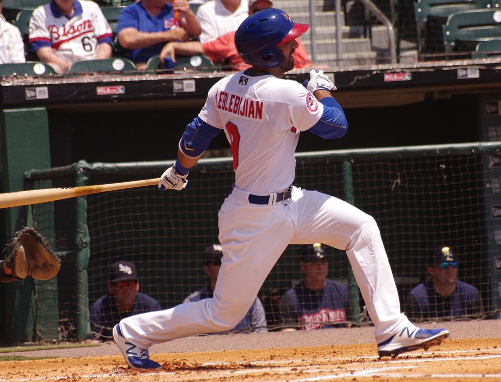 Jason Leblebijian had a monster night for the triple-A Buffalo Bisons on Saturday, going 4-for-4 with a double, a triple and one run. Photo Credit: Jay Blue