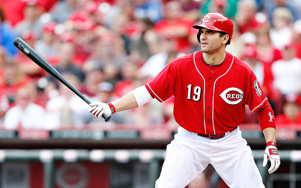 Etobicoke, Ont., native Joey Votto walked five times on Sunday to tie a Cincinnati Reds team record.