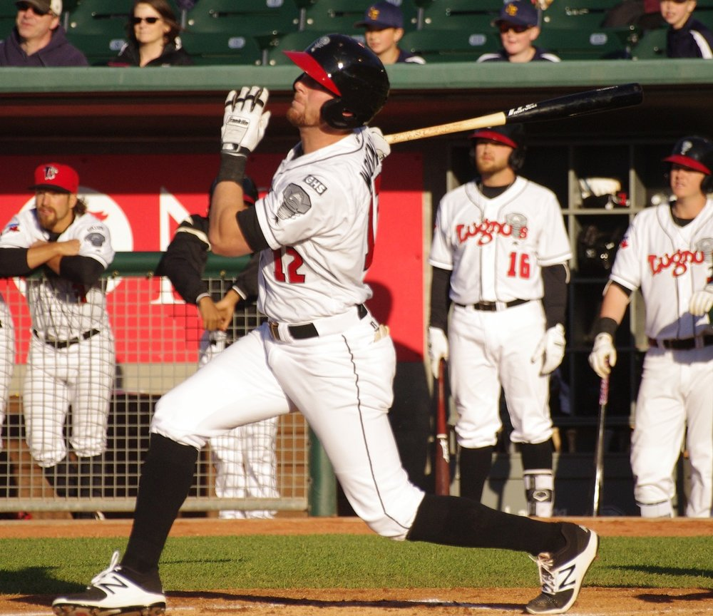 J.B. Woodman went 2-for-4 with a double, a home run and three RBI to lead the Lansing Lugnuts to a 6-5 win on Monday. Photo Credit: Jay Blue