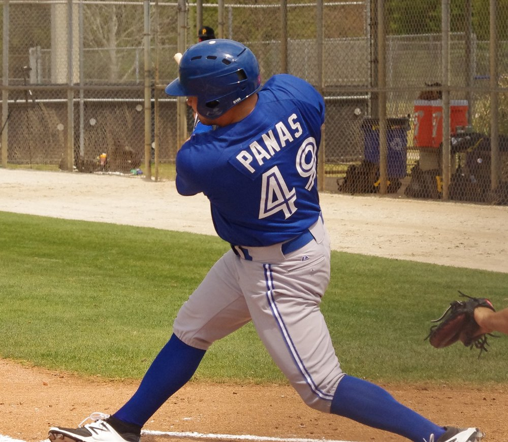 Toronto native Connor Panas clubbed two home runs for the class-A Dunedin Blue Jays on Thursday to give him 18 on the season. Photo Credit: Jay Blue