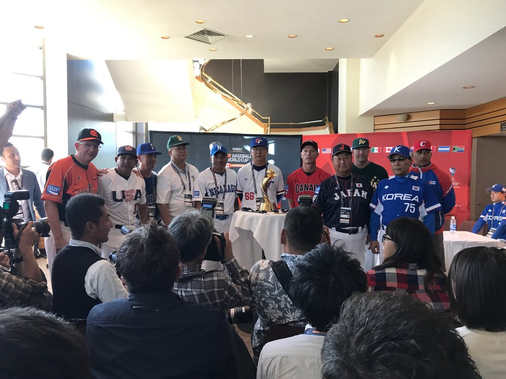The introductory press conference for the U18 Baseball World Cup was held on Thursday. Photo Credit: Alexis Brudnicki