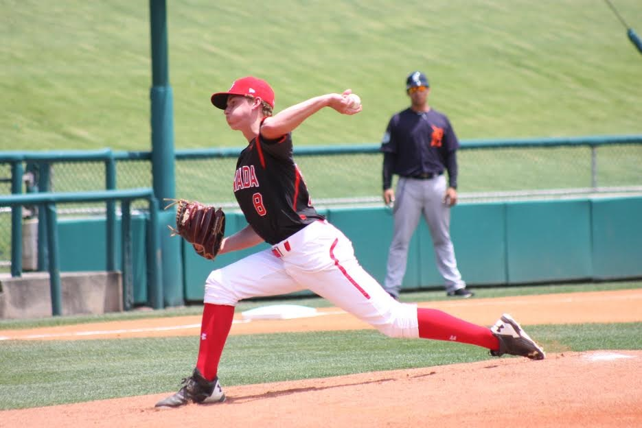 Vauxhall Academy grad Wesley Moore (Surrey, B.C.) will start the opener for Canada at the U18 Baseball World Cup in Thunder Bay, Ont., that will begin on Friday. Photo Credit: Eddie Michels.