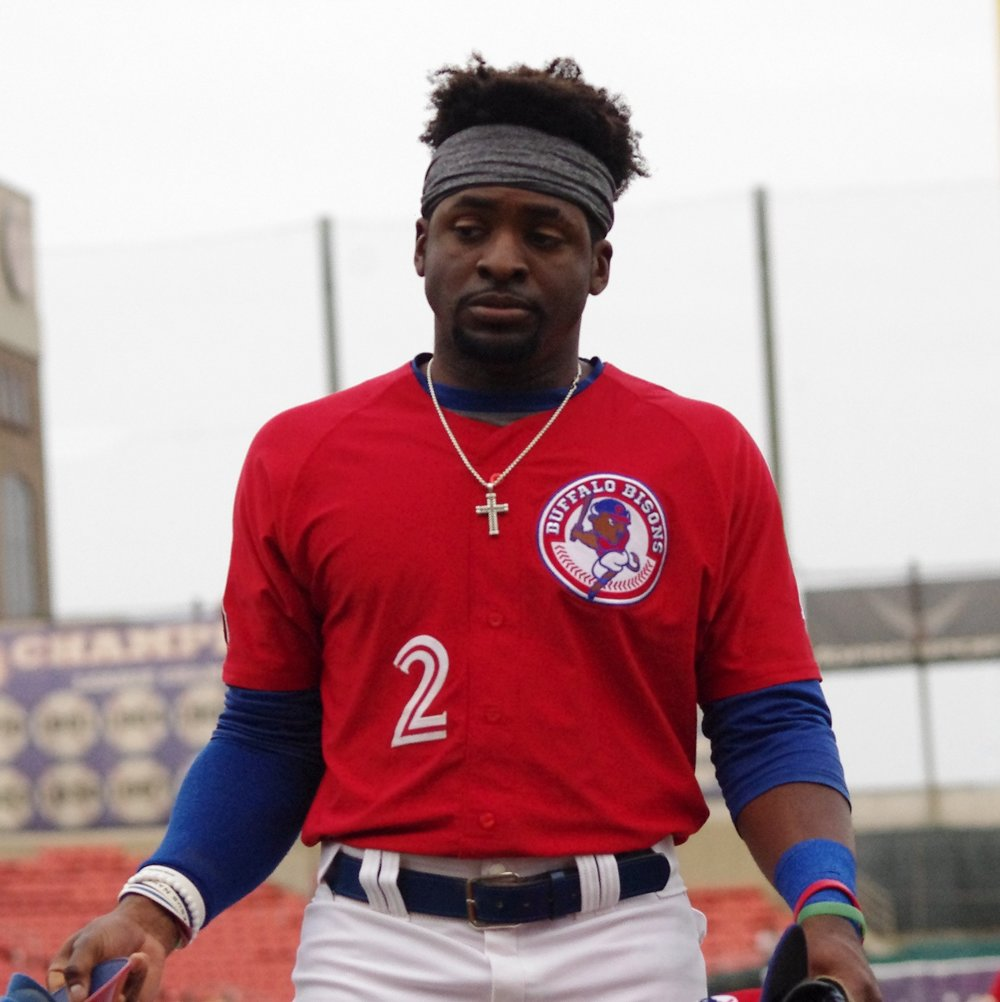Dwight Smith, Jr. went 2-for-4 with three RBI to help lead the triple-A Buffalo Bisons to a 4-0 win on Friday. Photo Credit: Jay Blue