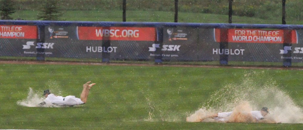 The Canadian Junior National's team game against Nicaragua scheduled for Saturday night has been postponed due to the rain. Photo Credit: WBSC (Twitter)