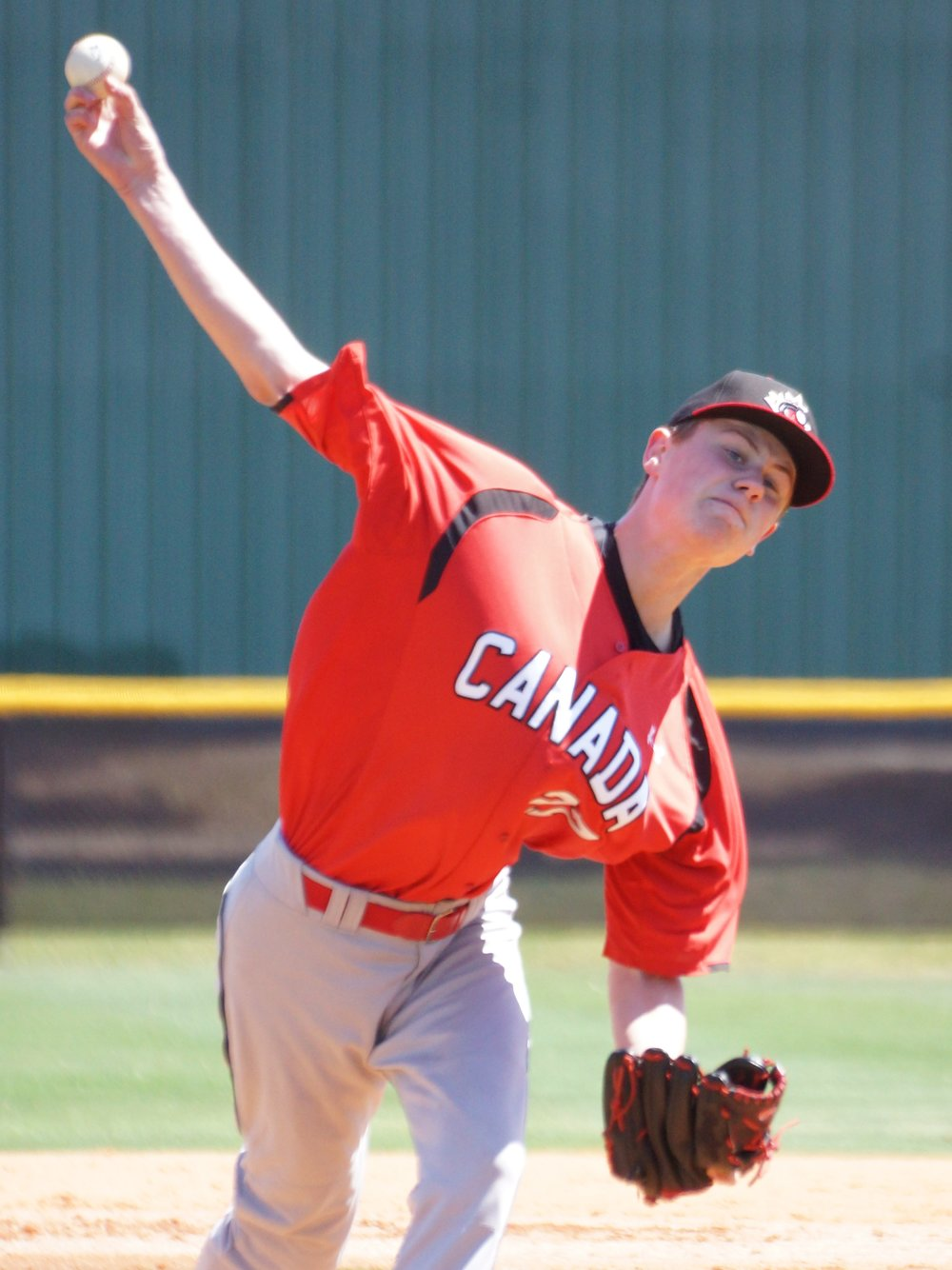 Great Lake Canadians grad Griffin Hassall (Newmarket, Ont.) will start for Canada when they take on Nicaragua at the U18 Baseball World Cup in Thunder Bay, Ont., on Wednesday. Photo Credit: Eddie Michels