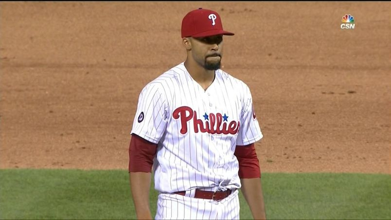 Right-hander Jesen Therrien (Montreal, Que.) has been diagnosed with damage to his right ulnar collateral ligament and has been shut down for the season by the Philadelphia Phillies. Photo Credit: CSN Philly.