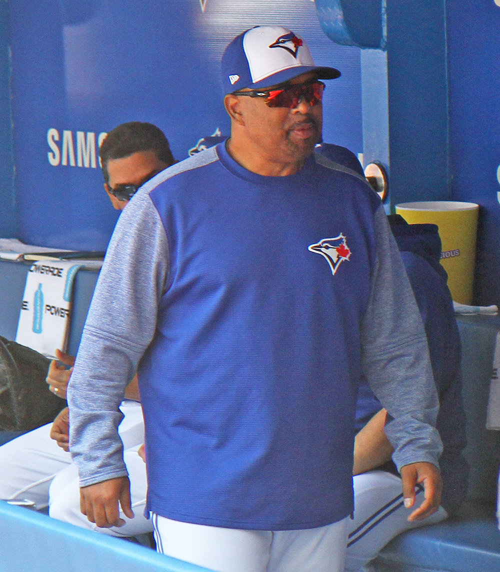 Blue Jays bench coach DeMarlo Hale filled in as manager for five games earlier this month. Photo Credit : Matt Antonacci