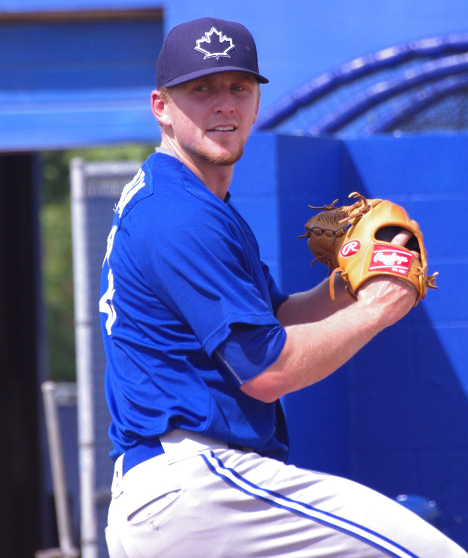 Left-hander Travis Bergen tossed 2 2/3 innings of scoreless relief for the Vancouver Canadians on Monday, allowing just one hit while striking out four. Photo Credit: Jay Blue