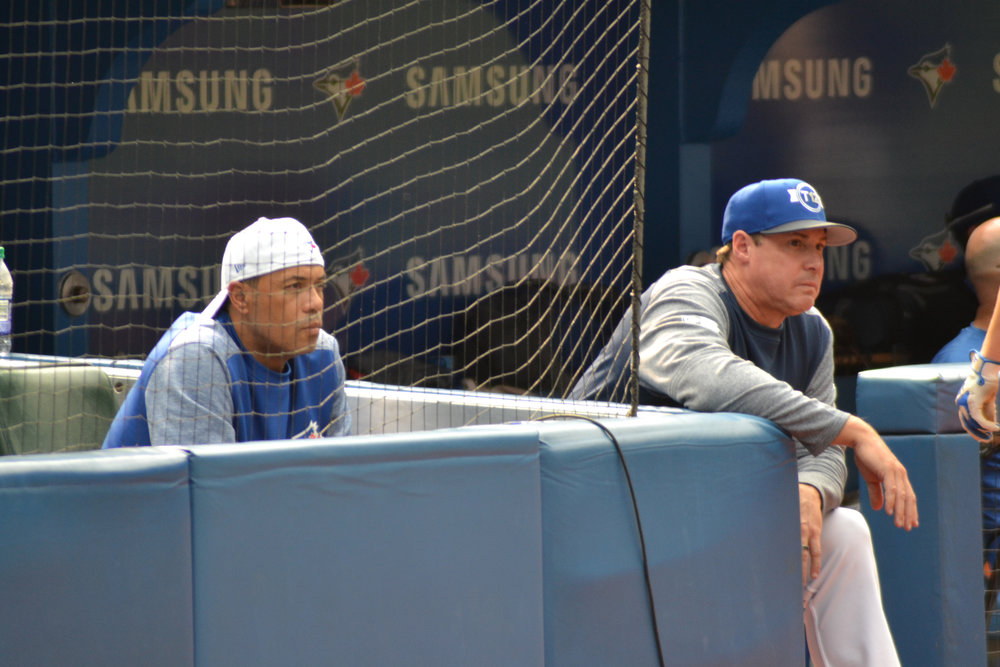"""Toronto Blue Jays legend Roberto Alomar (left) sits behind home plate observing Ontario Green's scouting session during the second day of Tournament 12. Photo Credit:              Jose Alfonso Taboada       Normal   0           false   false   false     EN-CA   X-NONE   X-NONE                                                                                                                                                                                                                                                                                                                                                                                 /* Style Definitions */  table.MsoNormalTable {mso-style-name:""""Table Normal""""; mso-tstyle-rowband-size:0; mso-tstyle-colband-size:0; mso-style-noshow:yes; mso-style-priority:99; mso-style-qformat:yes; mso-style-parent:""""""""; mso-padding-alt:0cm 5.4pt 0cm 5.4pt; mso-para-margin:0cm; mso-para-margin-bottom:.0001pt; mso-pagination:widow-orphan; font-size:11.0pt; font-family:""""Calibri"""",""""sans-serif""""; mso-ascii-font-family:Calibri; mso-ascii-theme-font:minor-latin; mso-fareast-font-family:""""Times New Roman""""; mso-fareast-theme-font:minor-fareast; mso-hansi-font-family:Calibri; mso-hansi-theme-font:minor-latin; mso-bidi-font-family:""""Times New Roman""""; mso-bidi-theme-font:minor-bidi;}"""
