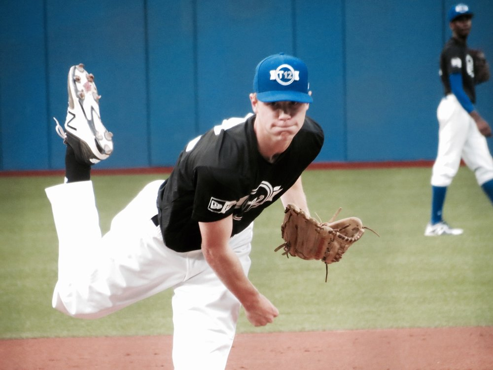 Ontario Black starter Eric Cerantola, of the Great Lake Canadians, allowed just one hit and struck out 12 Ontario Green batters in five shutout innings on Friday night. Photo Credit: Tyler King