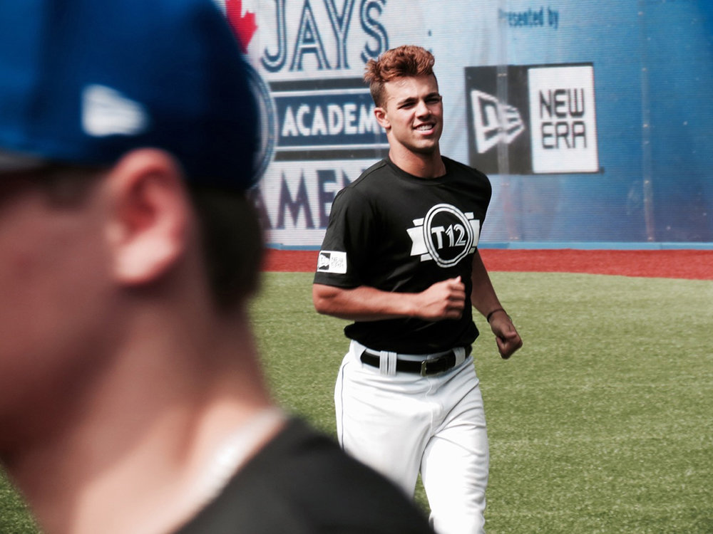 Shortstop Daniel Carinci, of the Toronto Mets, is already the No. 1 ranked Ontario infielder, according to Prep Baseball Report, but that hasn't stopped him from incorporating some pointers from Hall of Famer Roberto Alomar at Tournament 12. Photo Credit: Tyler King