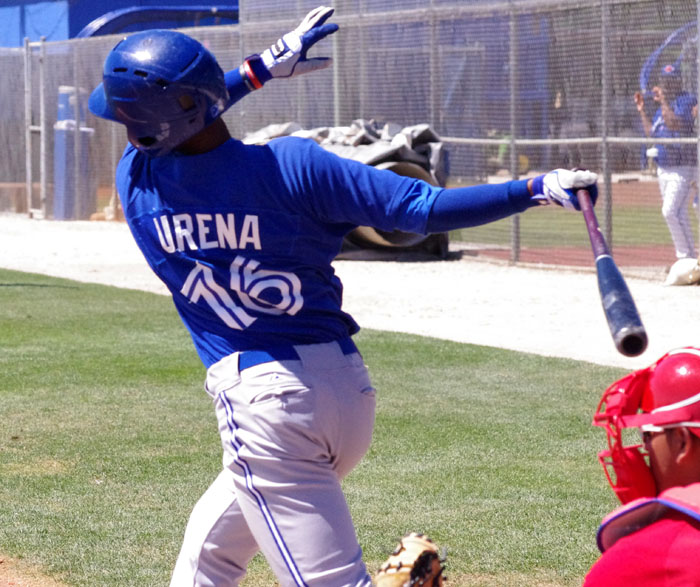 Richard Urena went 5-for-12, with a home run, a walk, and three runs scored in the Toronto Blue Jays' recent series against the Detroit Tigers. Photo Credit: Jay Blue