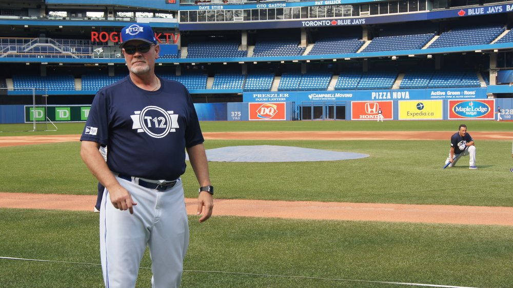 Former Toronto Blue Jays closer Duane Ward says he enjoys working with the young prospects at Tournament 12. Photo Credit: Melissa Verge