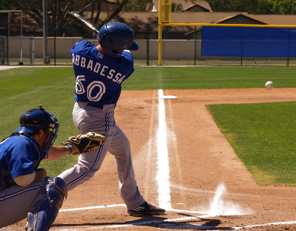 Dom Abbadessa was the only regular GCL Blue Jays player to have an OPS above .800 and had a .340/.402/.408 slash line in 39 games. Photo Credit: Jay Blue