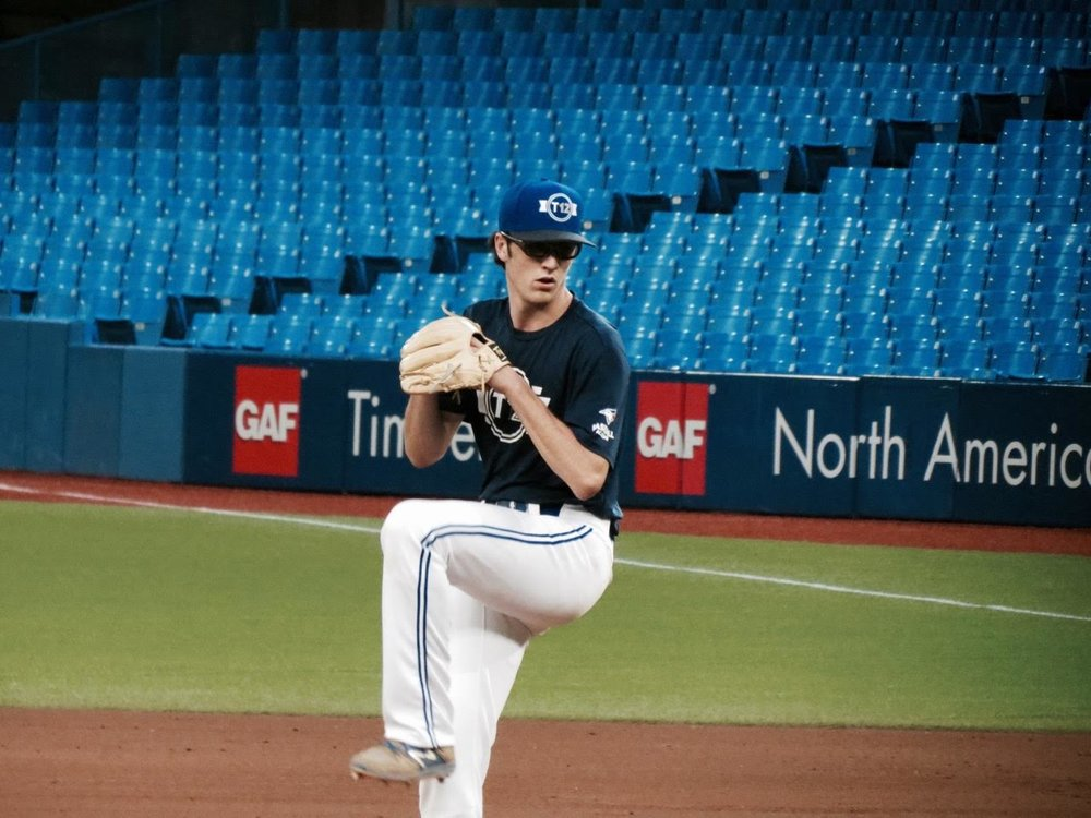 Ontario Blue Jays RHP Brandon Deans (Mississauga, Ont.) worked five innings in the no hitter championship game.